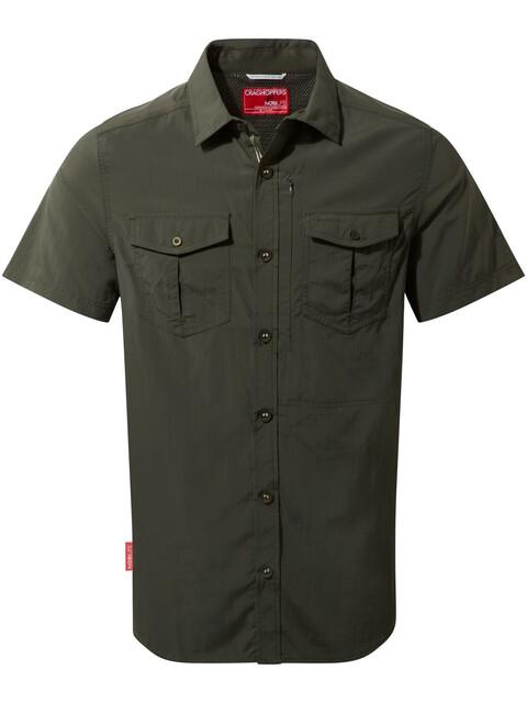 Craghoppers NosiLife Adventure II Short Sleeved Shirt Men Dark Khaki
